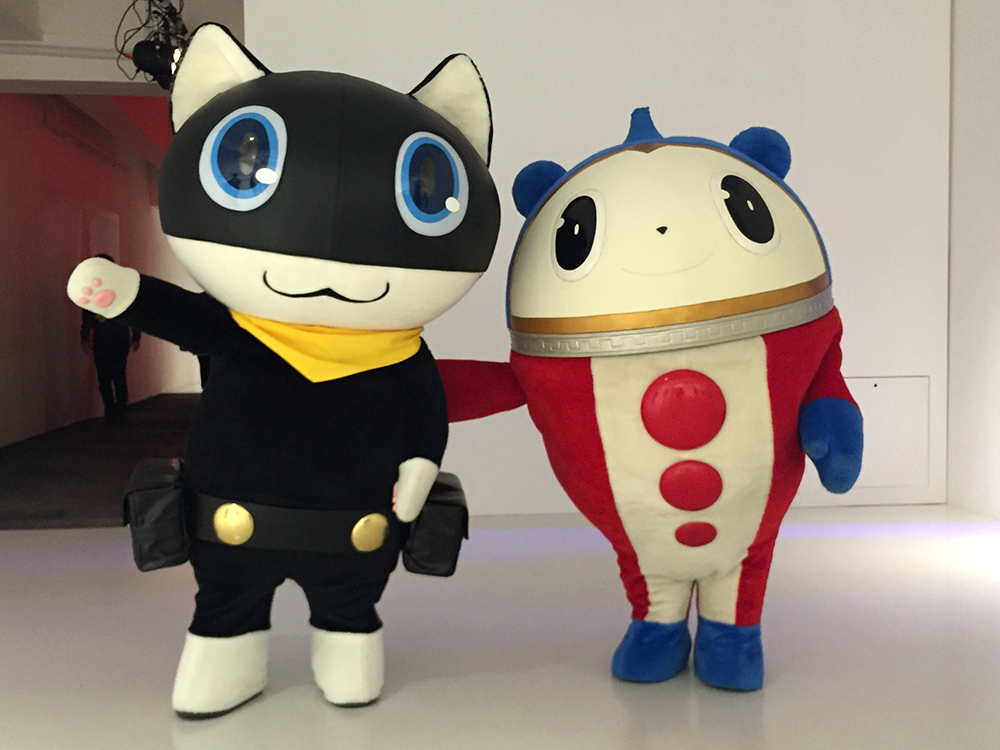 Greeting by Teddie and Morgana