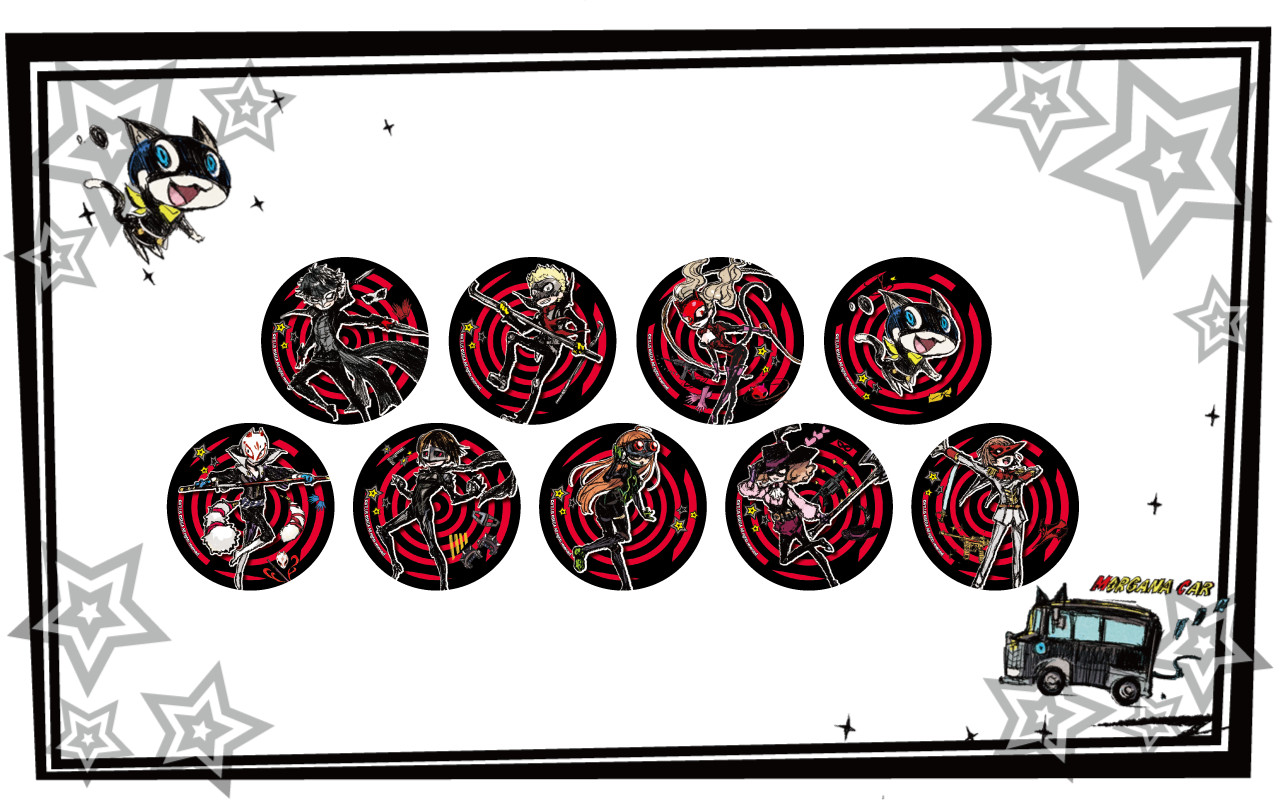 Persona 5 Can Badges