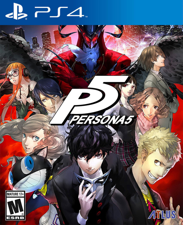 Persona 5 USA front cover
